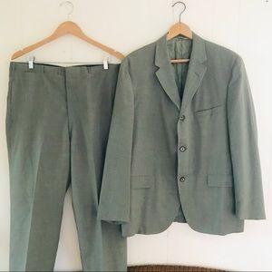 Vintage Sage Green Suit